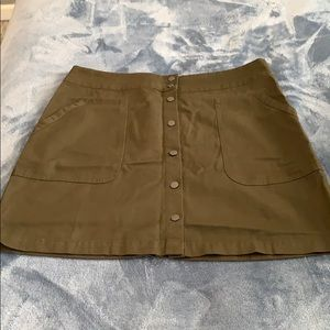 Banana Republic Olive Green Skirt